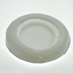 plato redondo vidrio